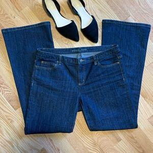 Michael Kors Dark Wash Wide Leg Flare Jeans